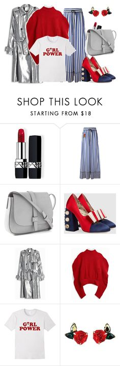 """Girl Power"" by cpcrew on Polyvore featuring Christian Dior, Off-White, Gap, Gucci, 3.1 Phillip Lim, A.W.A.K.E., fashionblogger, stylist and the_best_from_cpcrew"