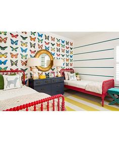 Discover some of the most beautiful kids room design for two kids. Use our decor tips and ideas to create the best kids bedroom design for your little ones. Girls Bedroom Colors, Kids Bedroom, Bedroom Decor, Preteen Bedroom, Bedroom Ideas, Bedroom Lighting, Bedroom Designs, Kids Rooms, Jenny Lind Bed