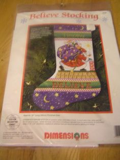 Mary Engelbreit Cross Stitch Kit Believe Stocking Christmas Dimensions 8446 New #Dimensions