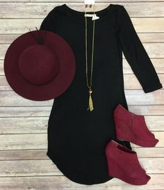 Fall Fashion Tunic Dress: Black from privityboutique