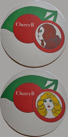 1970s illustrated Cherry B beer mats