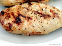 Healthy Quick Lemon Garlic Marinade Grilled Chicken - From 101 Cooking For Two