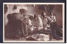Cartolina Costumi di Sardegna Desulo: il Pane
