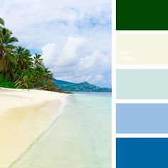 celadon, color of greenery, color of sand, color of sea, color of sea wave, color of water, color solution, Cyan Color Palettes, dark-blue, light blue, pale blue, pale yellow, rich green, selection of colors, shades of dark blue, shades of sea.