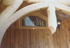 Log House Window Log Homes, Stained Glass, Windows, Bathroom, House, Timber Homes, Washroom, Log Houses, Bath Room