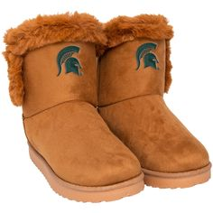 Faux Fur Boots, Brown Boots, Ugg Boots, Shoe Boots, Double Strap Sandals, Viking Dress, Striped Shoes, Light Up Shoes, Michigan State Spartans