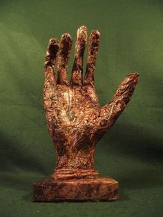 Folklore Witchcraft Faux 'Hand of Glory' Sculpture Goth Weird Curio Paper Mache