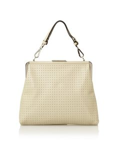 good for hot climates. great w/ chocolate. even better to add feminine to androgynous fashion. MARNI Perforated Leather Handbag w/ Suede Lining, Natural, http://www.myhabit.com