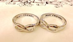 SAME DAY SHIPPING, Best Friends Infinity Ring, Infinity Sisters, Infinity Rings For Best Friends, Best Gift For Friends on Etsy, $16.00