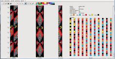 Вязаные бисерные жгуты: Схема Ромбы
