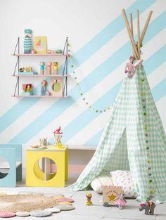 Lekfulla barnrum i härligaste pastellerna