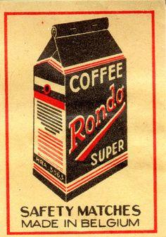 BELGIAN MATCHBOX LABEL - Coffee Rondo Super