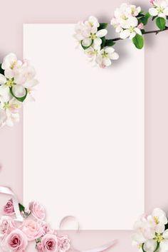 Flowery Wallpaper, Framed Wallpaper, Flower Background Wallpaper, Flower Phone Wallpaper, Flower Backgrounds, Pink Invitations, Invitation Cards, Instagram Frame Template, Pink Cards