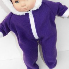 Welcome to adorabledolldesigns!  Includes:  -1 purple snowsuit  This will fit your 14-16 doll, including your Bitty Baby.  ~~~~~~~~~~~~~~~~~~~~~~~~~~~~~~~~~~~~~~~~~~~~~~~~~~~~~~~~~~~~~~~~~~~~~~~~~~~~  - All handmade items!  - Ship within 24 hours!  Adorabledolldesigns includes clothes made to fit your 18 Doll, the 15 Bitty Baby Girl Doll, the 15 Bitty Baby Boy Doll, and the 15 Bitty Baby Twins. The regular Bitty Baby clothes also fits the Bitty Twins. This is made to fit the doll shown above…