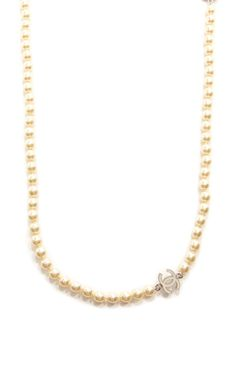 "Vintage Chanel 80"" Pearl Cc Necklace by What Goes Around Comes Around for Preorder on Moda Operandi"