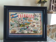A personal favorite from my Etsy shop https://www.etsy.com/listing/502560824/8-x-10-framed-colorado-vintage-map