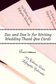 Wedding Thank You Gifts Who Gets : ... thank you cards! Get your thank you cards ready to send in no time