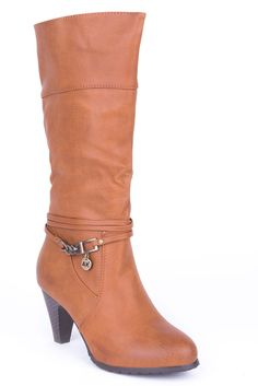 Calf Boots with Ankle Detail