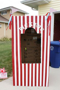Buckets of Grace: Carnival Party Part IV - Refrigerator Box Ticket Booth