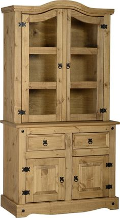 Persevering Solid Pine Wardrobe Finished In Antique Pine Wax Armoires & Wardrobes