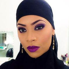 Purple crush, love the purple makeup. #Purple #Makeup #eyes #purplelips #Eyebrows #contour #Beauty #PinkyMakeup