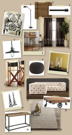 """not that I like everything in this image, but at least I know what """"our"""" style is now - rustic industrial chic"""