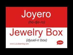Joyero en Inglés = Jewelry Box in Spanish