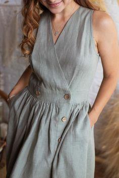 Linen Dresses, Cotton Dresses, Casual Dresses, Stunning Dresses, Minimal Fashion, Mode Inspiration, Women's Fashion Dresses, Dress Patterns, Designer Dresses