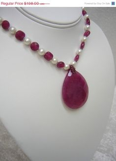 On Sale Purple Jade Pendant With Freshwater by RLGemstoneElegance, $128.70