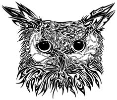 The Owl is sacred to the Greek divinity of learning, owl tattoo even portrayed on some classical currency as an emblem of standing, intelligence and in fact, wealth. Owl Tattoo Design, Tattoo Designs, White Owl Tattoo, Tattoo Owl, Paw Print Clip Art, Tribal Owl Tattoos, Black And White Owl, Tattoos Gallery, Owl Art