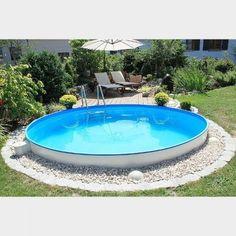 Rundpool / Stahlwandpool rund - Mit dem eigenen Pool im Garten das perfekte Urlaubsfeeling einfach zu sich nach Hause holen.