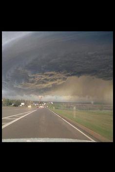 Wall cloud over Lawton, OK 4/17/13.