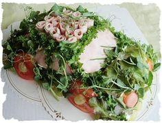 Liha-autokakku - Ullanunelma Sandwich Cake, Sandwiches, Savoury Baking, Seaweed Salad, The Dish, Healthy Recipes, Healthy Food, Cabbage, Snacks