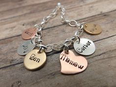 Personalized jewerlymixed metalspearl by mybeadedbutterfly on Etsy, $61.00
