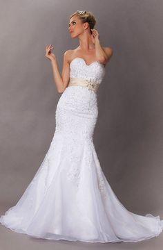 Sexyher Seductive Strapless Beaded Mermaid Wedding Dress