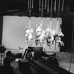 Behind the scenes of Mary Poppin's carousel horse race