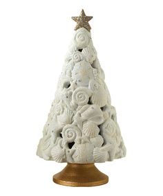 Take a look at this Seashell Christmas Tree Figurine on zulily today!