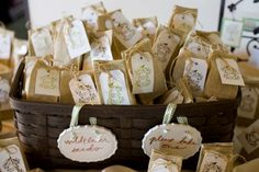 How about some wildflower seeds as wedding favours .... your guests can take these home and sow them and have a living reminder of the day