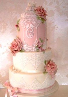 Vintage lace birdcage wedding cake Bristol, Pretty Amazing Cakes, wedding and celebration cake design