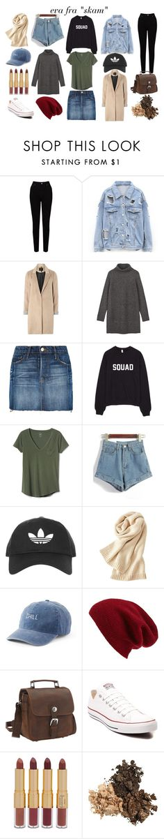 """""""eva from """"skam"""""""" by nanna-grubert-1 on Polyvore featuring EAST, mel, Frame, Gap, Topshop, Uniqlo, SO, Halogen, Vagabond Traveler and Converse"""