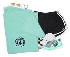 """""""Wearing shorts hopefully I don't regret wear them!!"""" by keileeen ❤ liked on Polyvore featuring NIKE and Ray-Ban"""