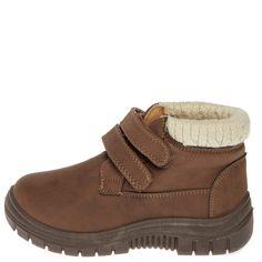 Zapatos abotinados con adornos de punto marrón Infantil niño