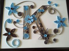 Custom Made Monogram Letters  Paper Quilled Art   door Quilling247