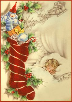 free postcard images vintage | Vintage Christmas Cards and Art