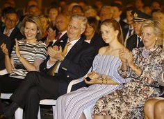 Belgian Royals attended a firework show on the National Day