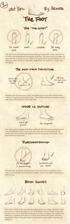 Art Tips - The Foot by =ArandaDill