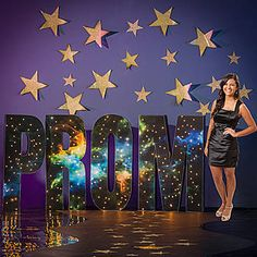 Our Mystic Galaxy Lighted Prom Letter Set spells out the word PROM and will be printed with a cool outer space scene. Make your prom out of this world.