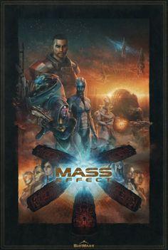 The BioWare Store - Mass Effect Saga Special Edition Lithograph - Lithographs - Art Mass Effect 1, Mass Effect Universe, Mass Effect Legion, Mass Effect Reapers, Pop Culture Art, Dragon Age, Cool Stuff, Art Day, Game Art