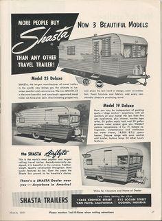 1960 Shasta Trailers