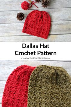 The Dallas Hat Crochet Pattern is a simple no frills project with a stunning result! This pattern comes in sizes toddler through adult! Crochet Hat With Brim, Crochet Slouchy Hat, Crochet Beanie Pattern, Crochet Patterns, Hat Patterns, Crochet Ideas, Slouch Hats, Crocheted Hats, Knit Hats